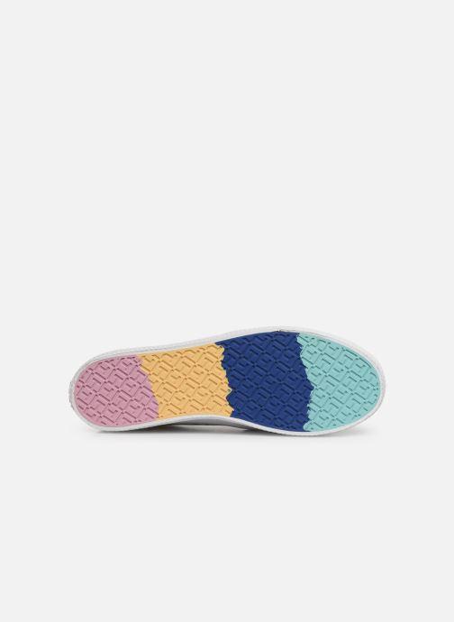 Baskets Tommy Hilfiger Slip On Rainbow Flat Blanc vue haut