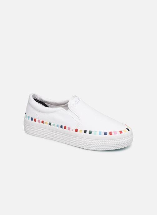 Baskets Tommy Hilfiger Slip On Rainbow Flat Blanc vue détail/paire