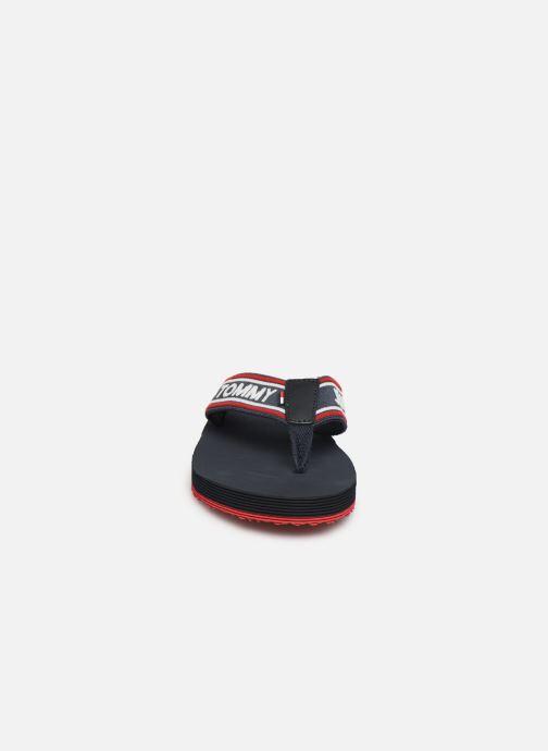Flip flops Tommy Hilfiger Stripe Tommy Black model view