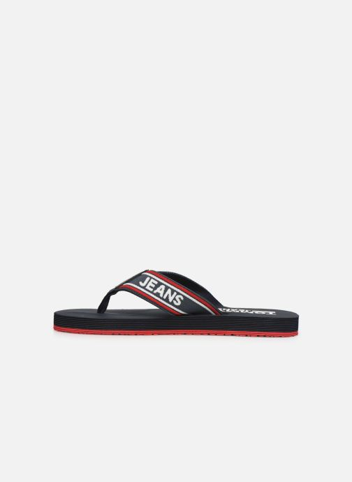 Tongs Tommy Hilfiger Stripe Tommy Noir vue face