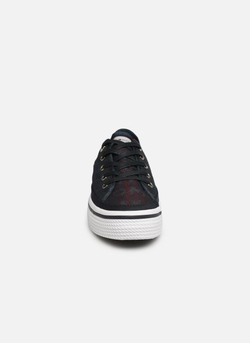 Baskets Tommy Hilfiger Tommy Jacquard Flatf Bleu vue portées chaussures