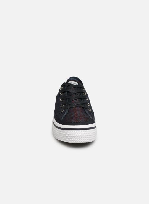 Sneakers Tommy Hilfiger Tommy Jacquard Flatf Blå se skoene på