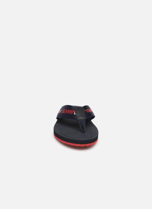 Tongs Tommy Hilfiger Tommy Jeans M Noir vue portées chaussures
