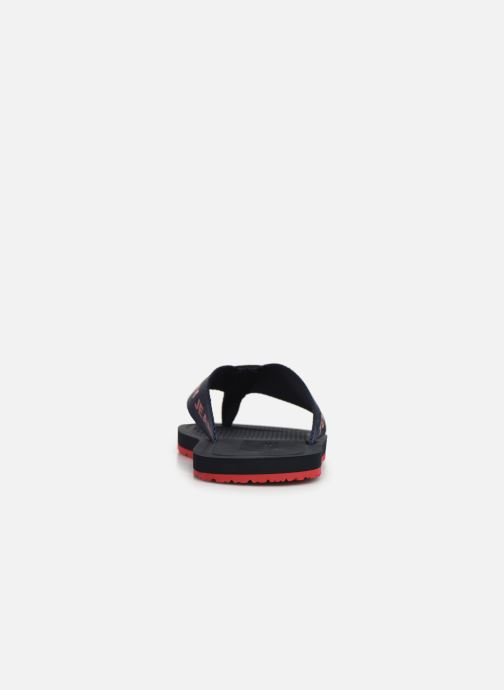 Flip flops Tommy Hilfiger Tommy Jeans M Black view from the right