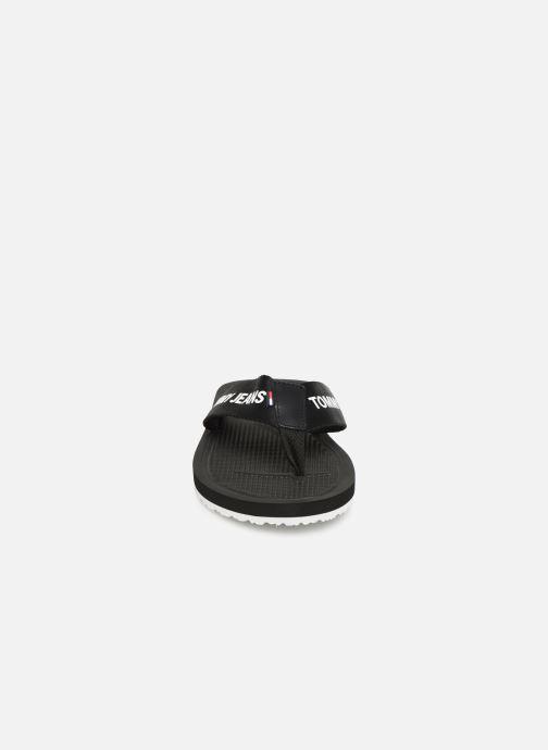 Zehensandalen Tommy Hilfiger Tommy Jeans M schwarz schuhe getragen