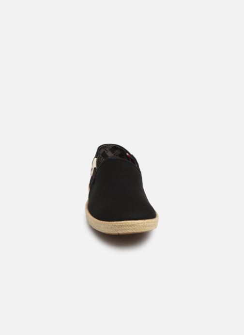 Espadrilles Tommy Hilfiger Tommy Jeans Summer S Noir vue portées chaussures