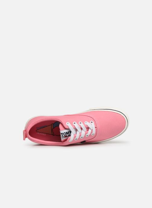 Deportivas Tommy Hilfiger Wmn Classic Tommy Je Rosa vista lateral izquierda