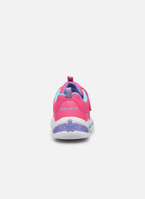 Deportivas Skechers Power Petals Rosa vista lateral derecha