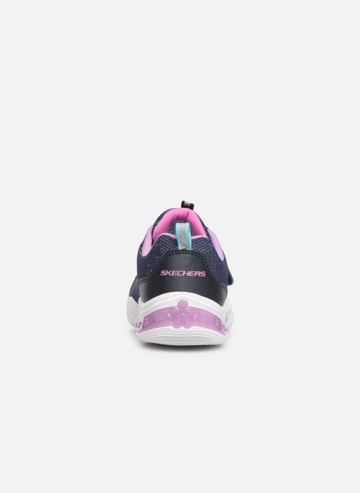 Sneaker Skechers Power Petals blau ansicht von rechts