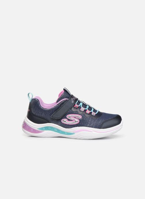 Sneaker Skechers Power Petals blau ansicht von hinten