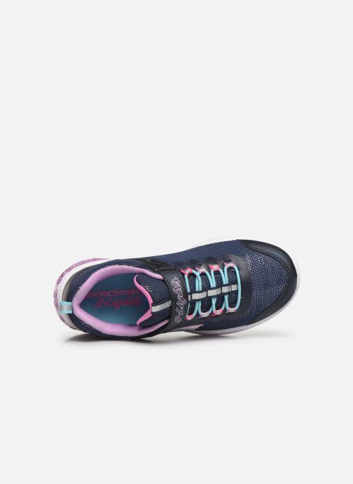 Baskets Skechers Power Petals Bleu vue gauche