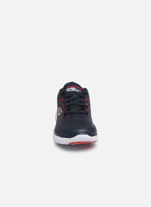 Chaussures de sport Skechers Flex Advantage 3.0 Bleu vue portées chaussures