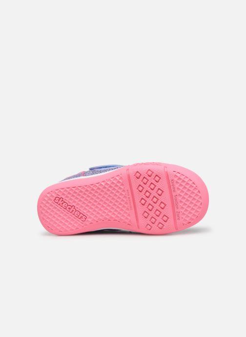 Baskets Skechers Flex Play-Early Violet vue haut