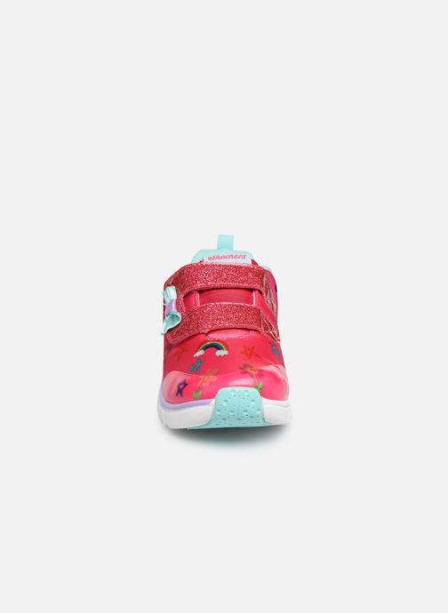 Baskets Skechers Jump Lites Rose vue portées chaussures