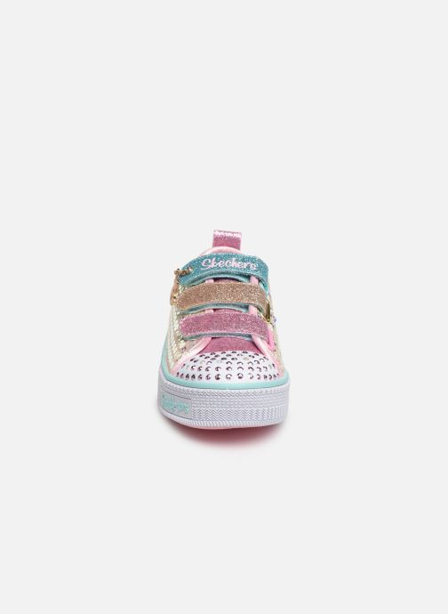 Baskets Skechers Twinkle Lite Mermaid Magic Multicolore vue portées chaussures