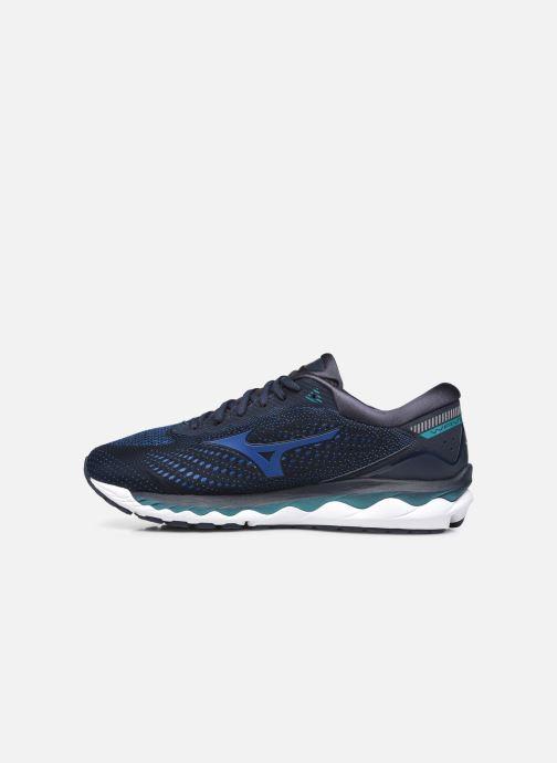 Zapatillas de deporte Mizuno Wave Sky 3 Azul vista de frente
