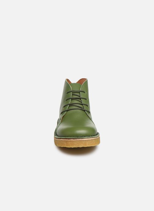 Botines  Tinycottons Solid Leather Boot Verde vista del modelo