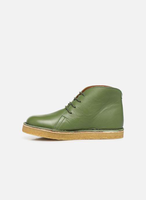 Botines  Tinycottons Solid Leather Boot Verde vista de frente