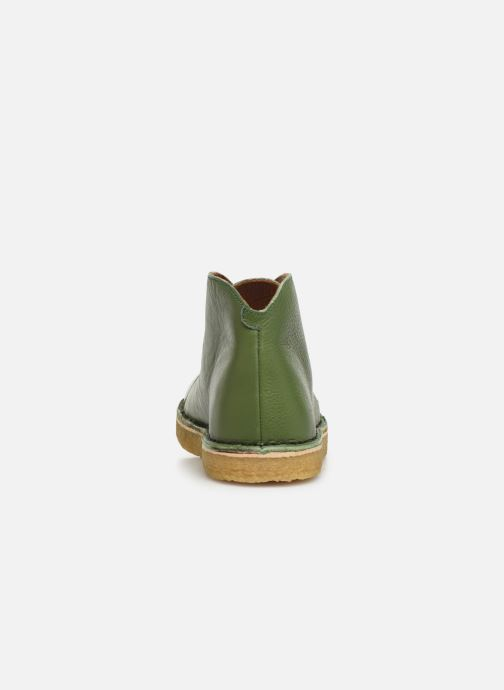 Botines  Tinycottons Solid Leather Boot Verde vista lateral derecha