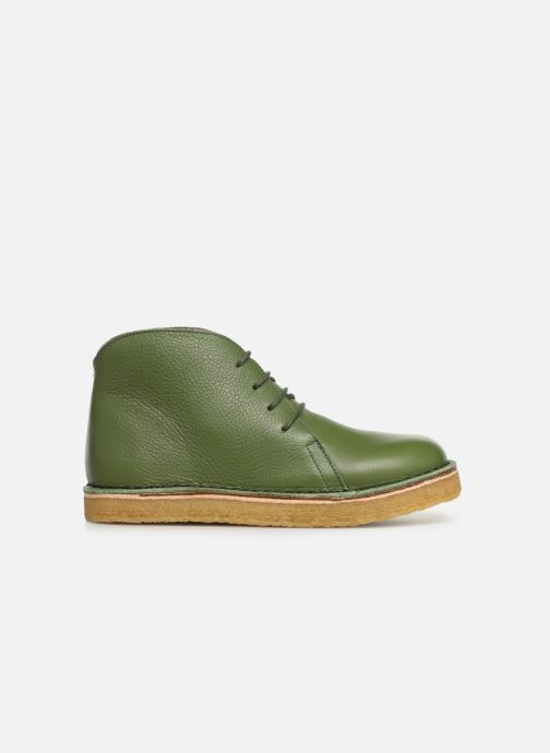 Botines  Tinycottons Solid Leather Boot Verde vistra trasera