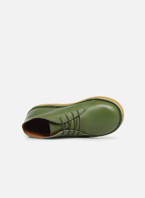 Botines  Tinycottons Solid Leather Boot Verde vista lateral izquierda
