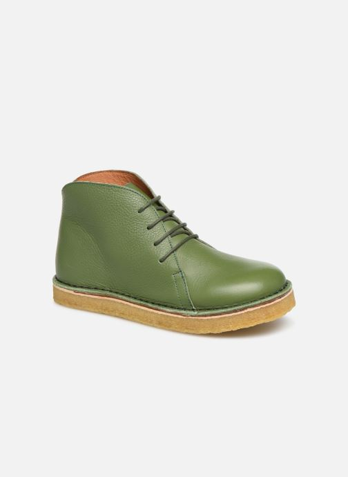Ankle boots Tinycottons Solid Leather Boot Green detailed view/ Pair view