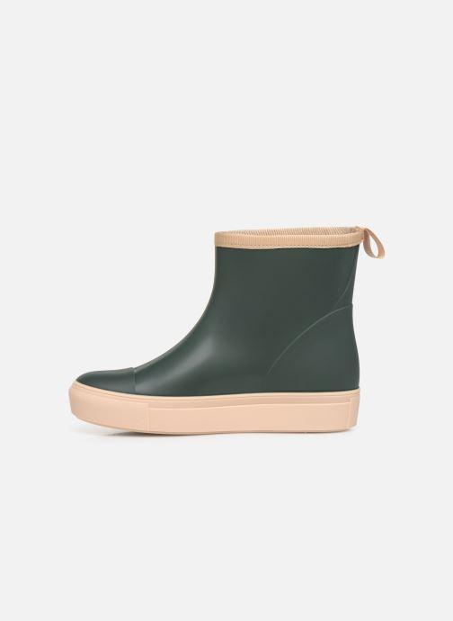 Stiefel Tinycottons Solid Rain Boot grün ansicht von vorne