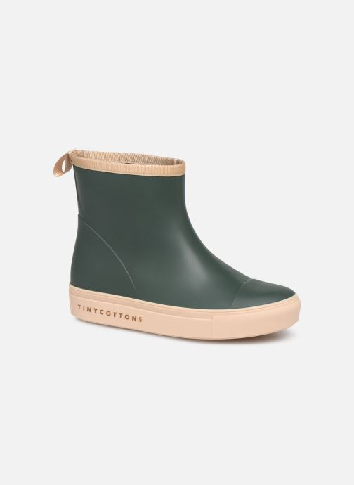 Bottes Tinycottons Solid Rain Boot Vert vue détail/paire