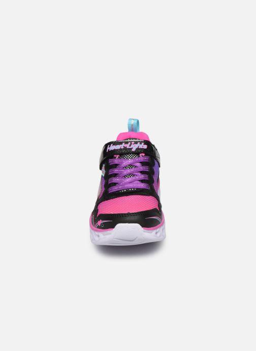 Sneaker Skechers Heart Lights Love Spark mehrfarbig schuhe getragen