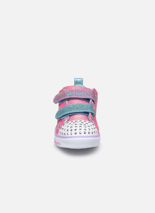 Baskets Skechers Sparkle Lite Multicolore vue portées chaussures