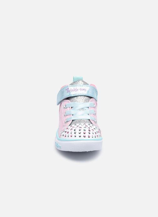 Sneakers Skechers Sparkle Lite Rosa modello indossato