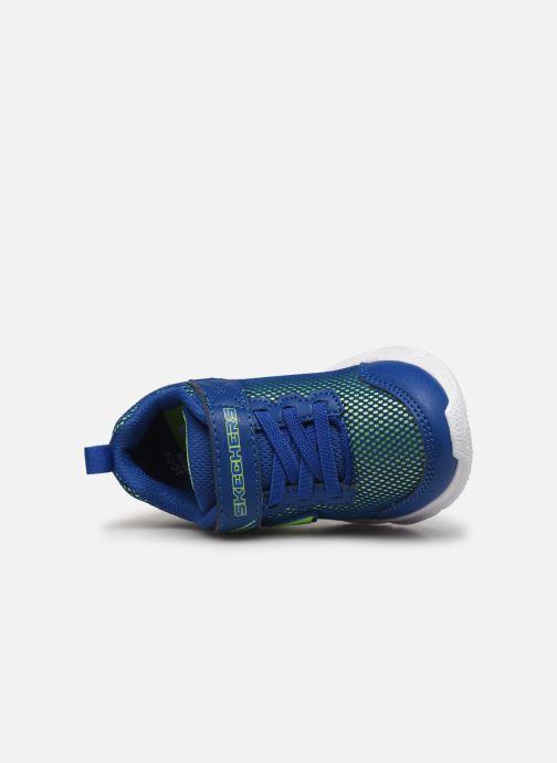 Baskets Skechers Advance Bleu vue gauche