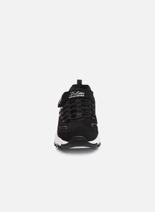Sneakers Skechers D'Lites Velcro Sort se skoene på