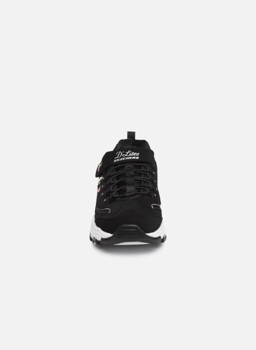 Sneakers Skechers D'Lites Velcro Zwart model