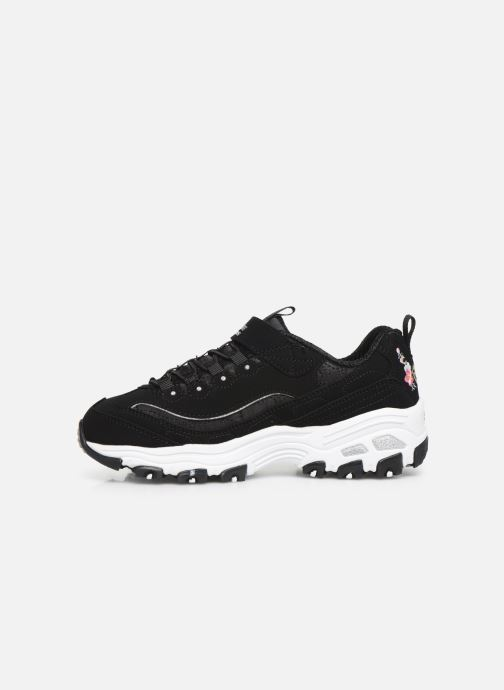 Sneakers Skechers D'Lites Velcro Sort se forfra