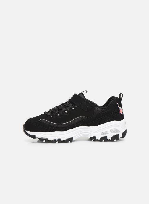 Sneakers Skechers D'Lites Velcro Zwart voorkant