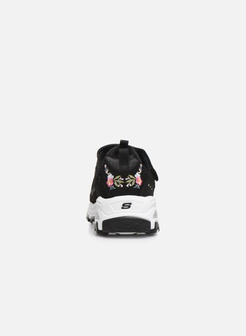 Sneakers Skechers D'Lites Velcro Zwart rechts