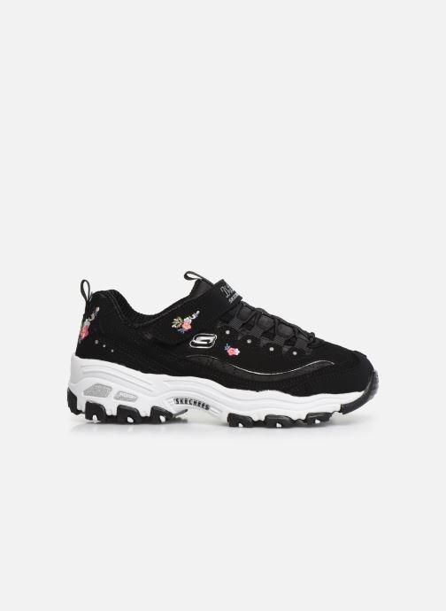 Sneakers Skechers D'Lites Velcro Zwart achterkant