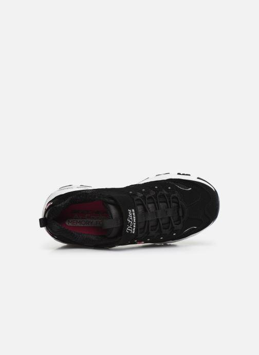 Sneakers Skechers D'Lites Velcro Zwart links