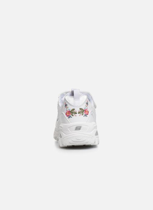 Baskets Skechers D'Lites Velcro Blanc vue droite