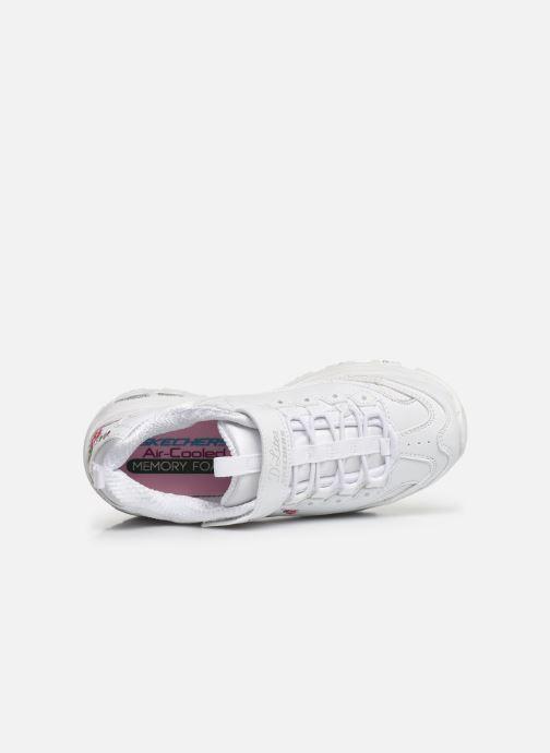 Baskets Skechers D'Lites Velcro Blanc vue gauche