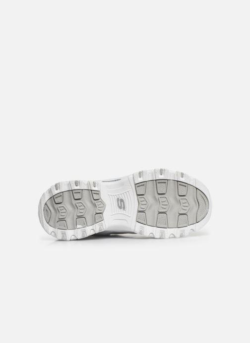 Baskets Skechers D'Lites Velcro Blanc vue haut