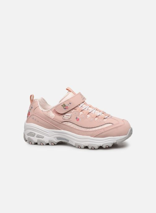 Trainers Skechers D'Lites Kids Pink back view