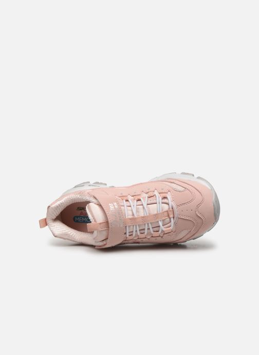 Trainers Skechers D'Lites Kids Pink view from the left