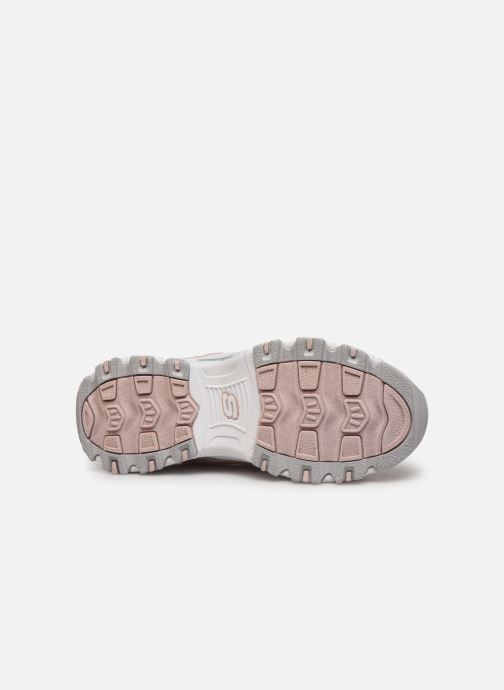 Trainers Skechers D'Lites Kids Pink view from above