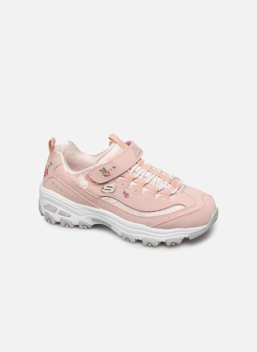 Trainers Skechers D'Lites Kids Pink detailed view/ Pair view