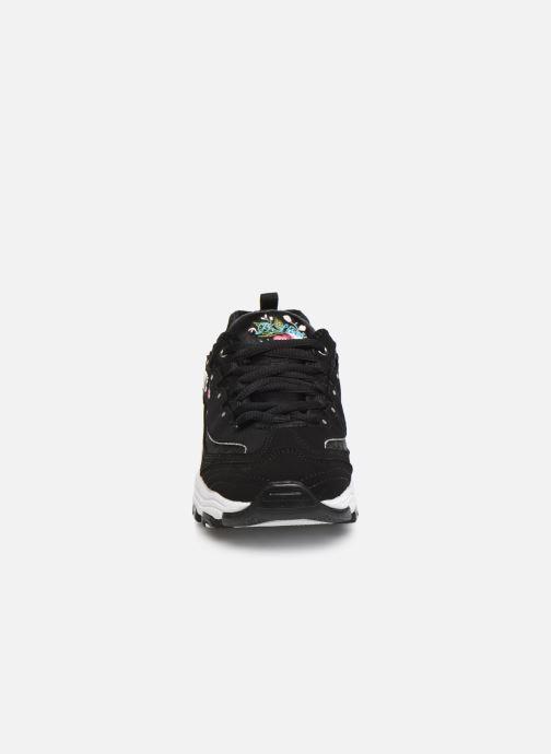 Baskets Skechers D'Lites Kids Noir vue portées chaussures