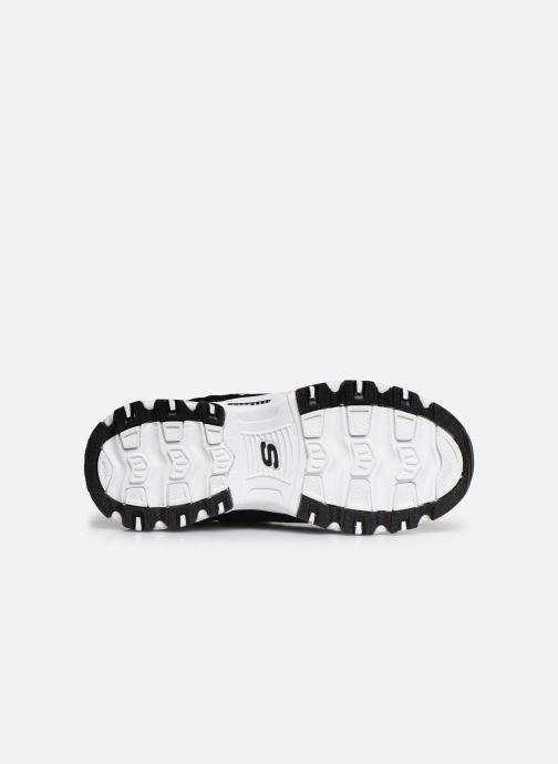 Baskets Skechers D'Lites Kids Noir vue haut