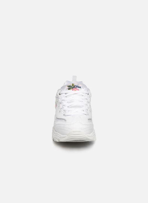Baskets Skechers D'Lites Kids Blanc vue portées chaussures