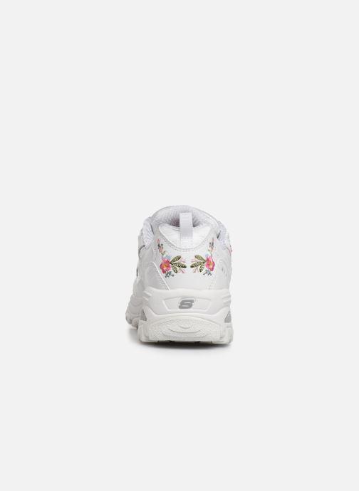 Baskets Skechers D'Lites Kids Blanc vue droite